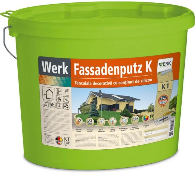 Fassadenputz K1 Tencuială decorativă, aspect granulat, 1mm, 25kg