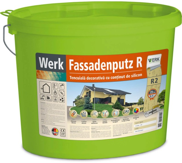 Fassadenputz R2 Tencuială decorativă, aspect zgâriat, 2mm, 25kg