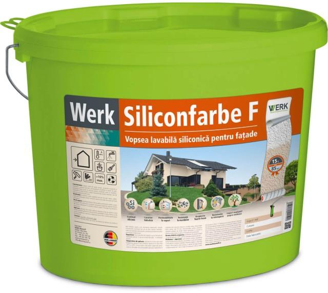 Siliconfarbe F Vopsea pentru fațadă pe bază de rășină siliconică