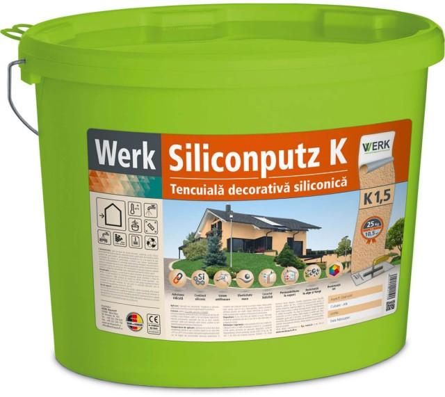 Siliconputz K3 Tencuială decorativă siliconică, 3mm, granulat, 25kg