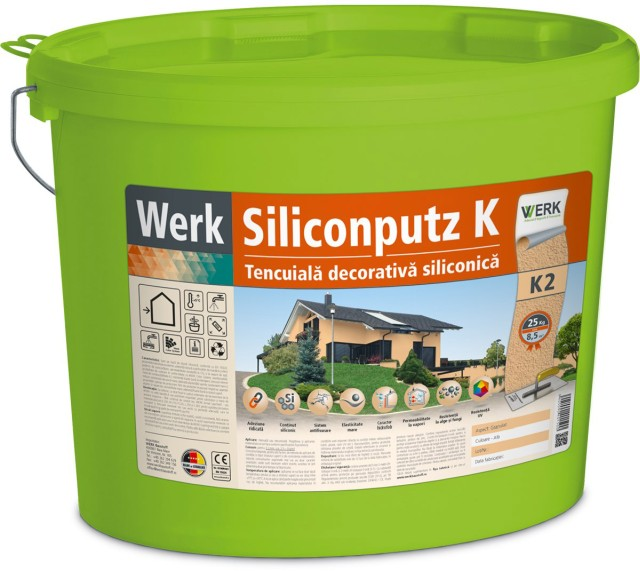 Siliconputz K2 Tencuială decorativă siliconică, 2mm, granulat, 25kg