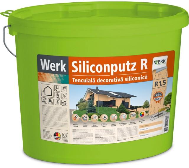 Siliconputz R1,5 Tencuială decorativă siliconică, 1,5mm, zgâriat, 25kg