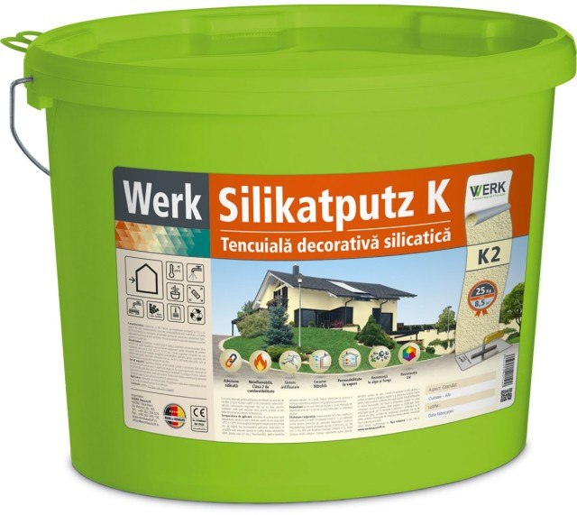 Silikatputz K2 Tencuială decorativă silicatică, 2mm, granulat, 25kg
