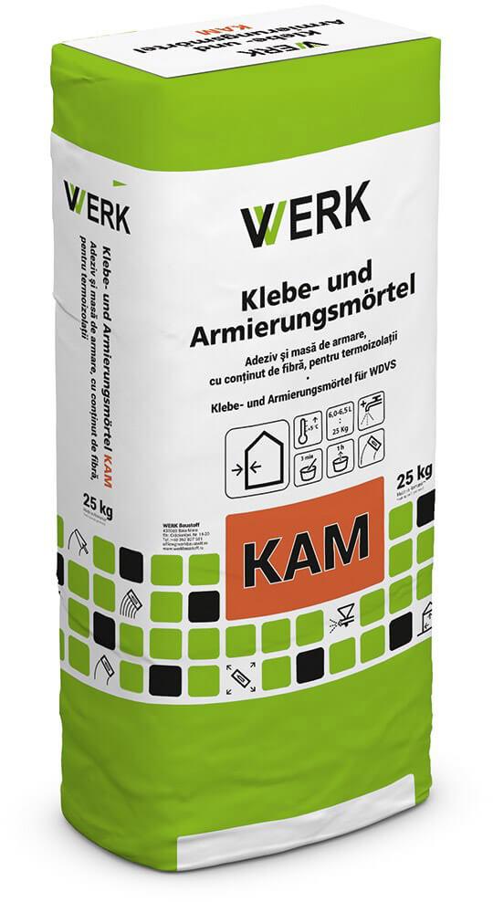 KAM Adeziv și masă de armare pentru termoizolații, gri, 25kg