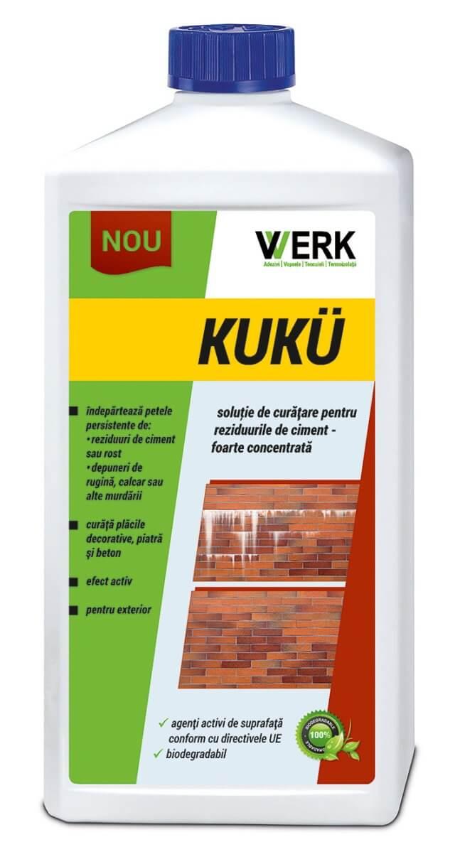 KUKU 1l Soluție de îndepărtare a reziduurilor de ciment