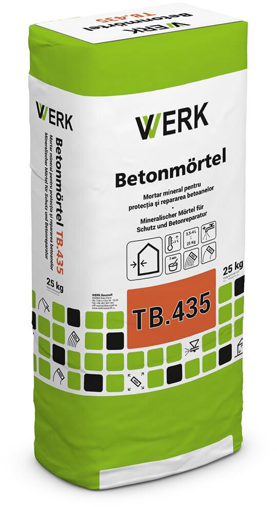 TB.435 Mortar pentru repararea betoanelor, 25kg