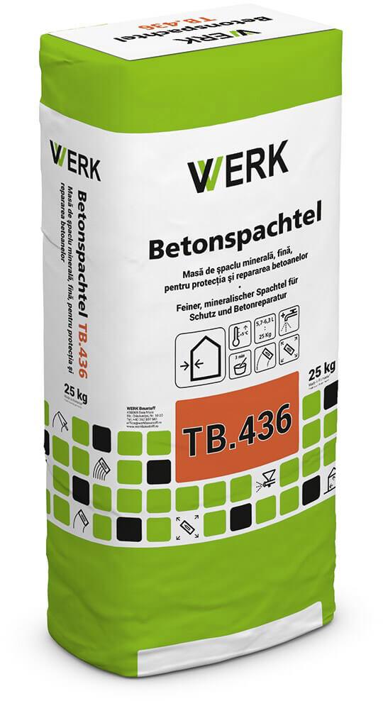 TB.436 Masă de șpaclu pentru repararea betoanelor, 25kg