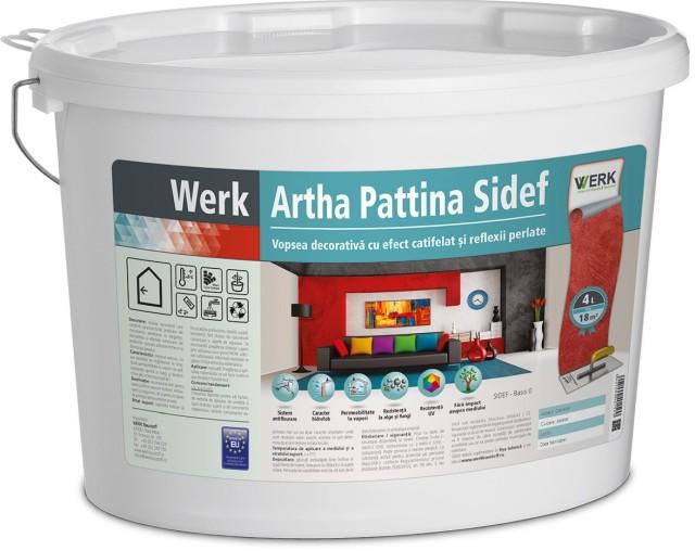 Artha Pattina Sidef Vopsea decorativă cu efect catifelat și reflexii perlate