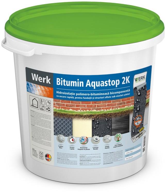 Bitumin Aquastop 2k Hidroizolație bituminoasă, sub nivelul solului, 30l