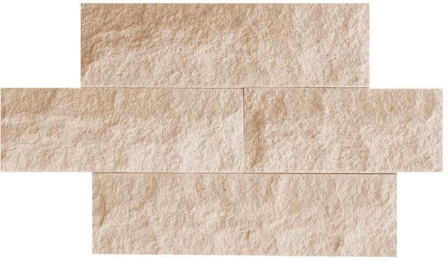 Piatră naturală sprenguită I, 10cm, crem