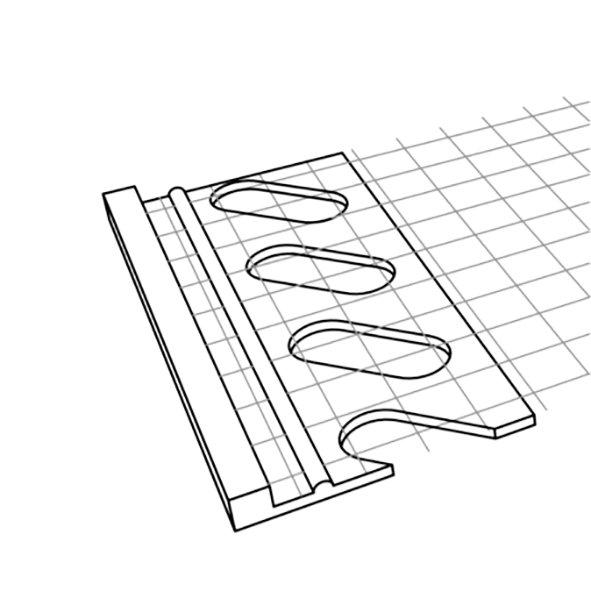 Putzabschlussprofil Profil de îmbinare cu fibra de sticlă